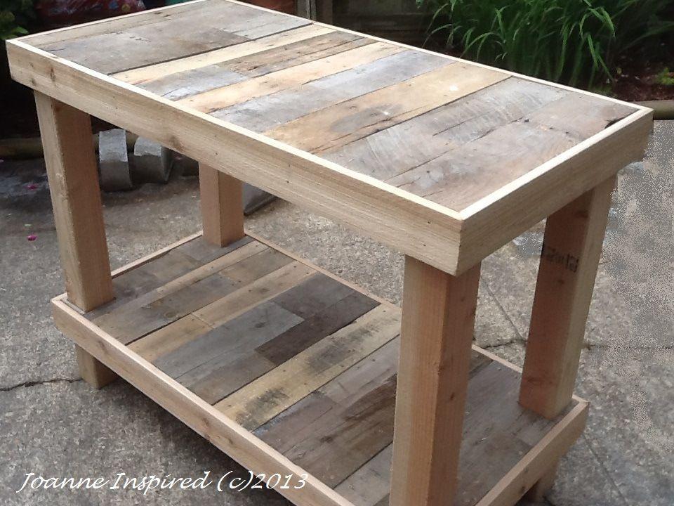 Pallet Project: Kitchen Island / Work Table   Asztal, Szék ...