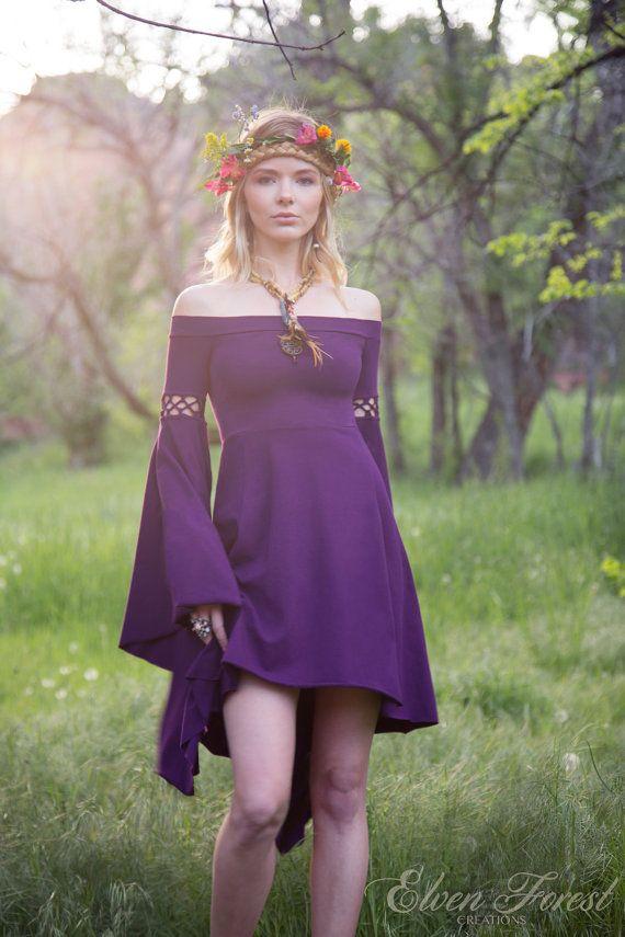 Vestido de noche de verano bosque de elfos bohemio por ElvenForest ...