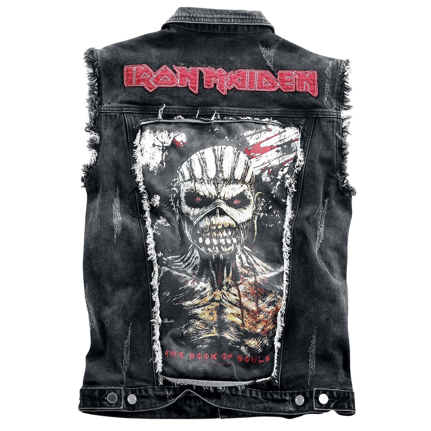 Iron Maiden Vest From The Black Premium By Emp Signature Collection With Best Leather Jackets Studded Denim Jacket Battle Jacket [ 1500 x 1500 Pixel ]