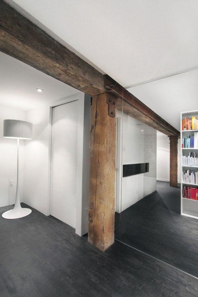 Wand-Design vorschläge rustikale-Säulen Espace-Le Moyne ...