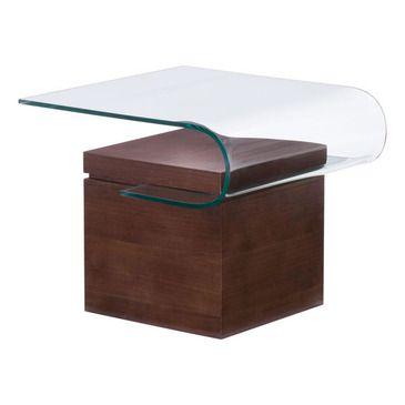 Zuo Modern Mystic Side Table In Walnut Beyond S