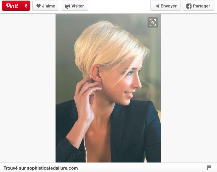 Court plongeant | Hair Cuts | Cheveux courts, Coupe de ...