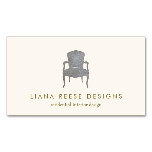 Interior design french chair logo business card zazzle - French interior design companies ...