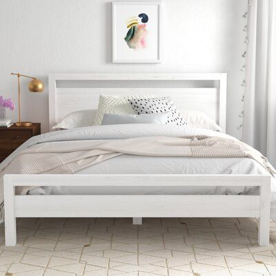 null Anchor your master suite or guest room with this essential bed, the perfect foundation for your restful retreat. Color: Brushed White