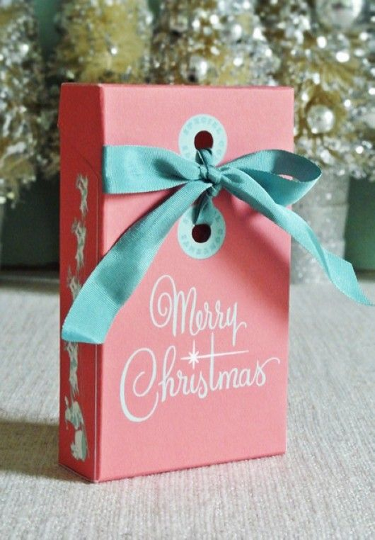 2013 Pastel Homemade Christmas Gift Box Templates, Pastel Christmas