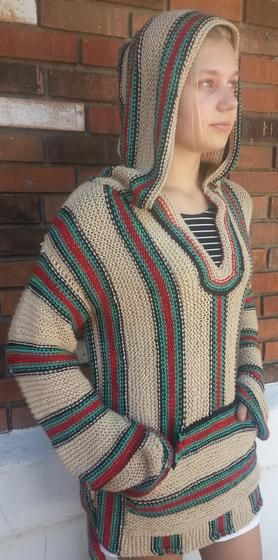 Retro Hippie Hoodie Knitting Patterns And Crochet Patterns From