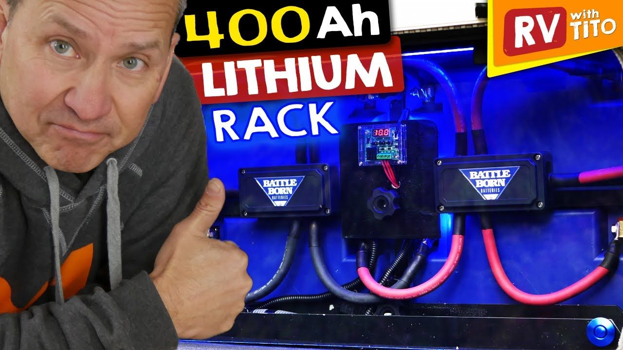 Diy lithium battery rack for small rv compartment full