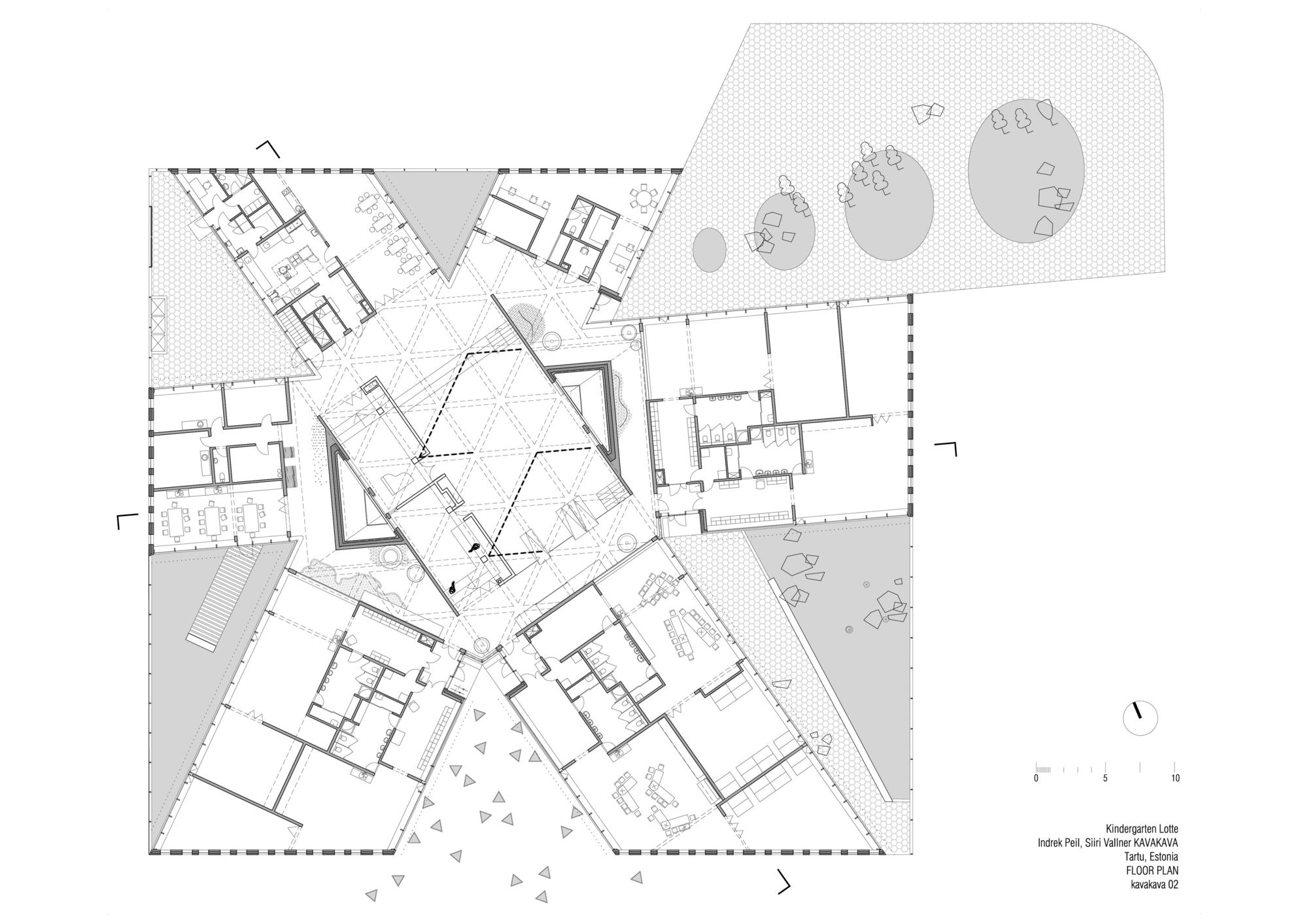514fb202b3fc4b8528000075 Kindergarten Lotte Kavakava Architects Drawing Plan Png 2000 1413 How To Plan Architect Drawing Kindergarten