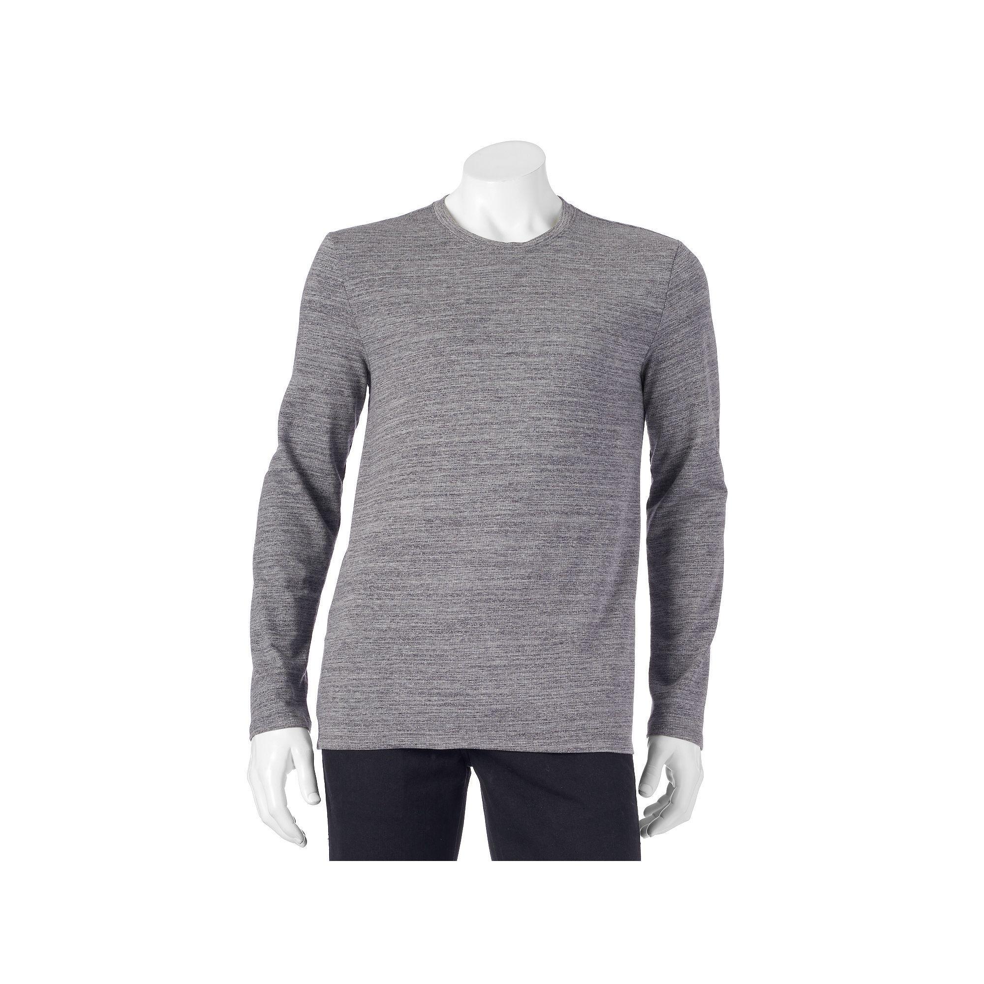 Black and white striped t shirt xxl - Men S Apt 9 Jaspe Modern Fit Interloop Texture Striped Tee Size Xxl Drk Purple