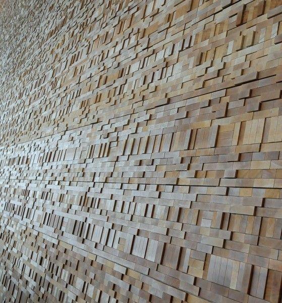 wood block wall treatment - google search | renovation ideas