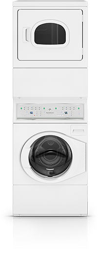 Stacked Washer Dryers Speed Queen Home Laundry Equipment Washer And Dryer Stackable Laundry Laundry Room Storage