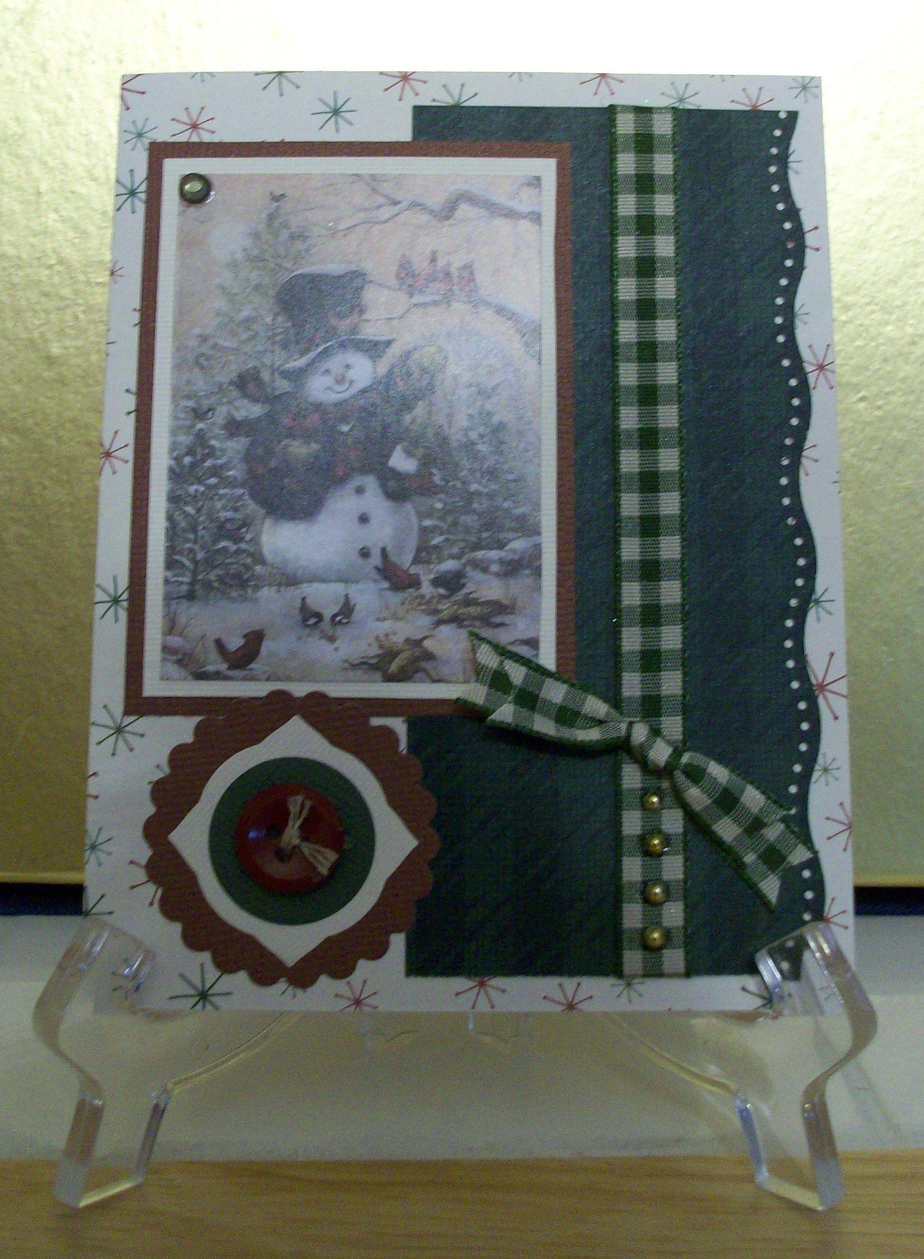 Country Snowman Christmas Card