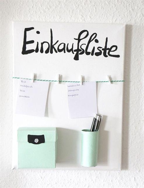 diy einkaufslisten organizer selber machen tumblr diys. Black Bedroom Furniture Sets. Home Design Ideas