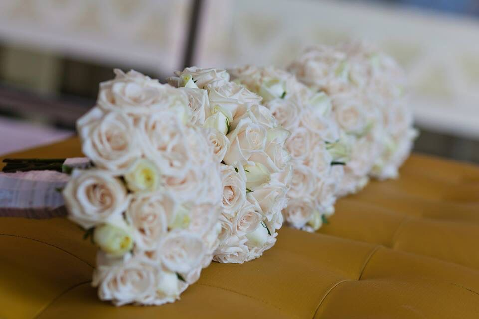 Our bridesmaids bouquets