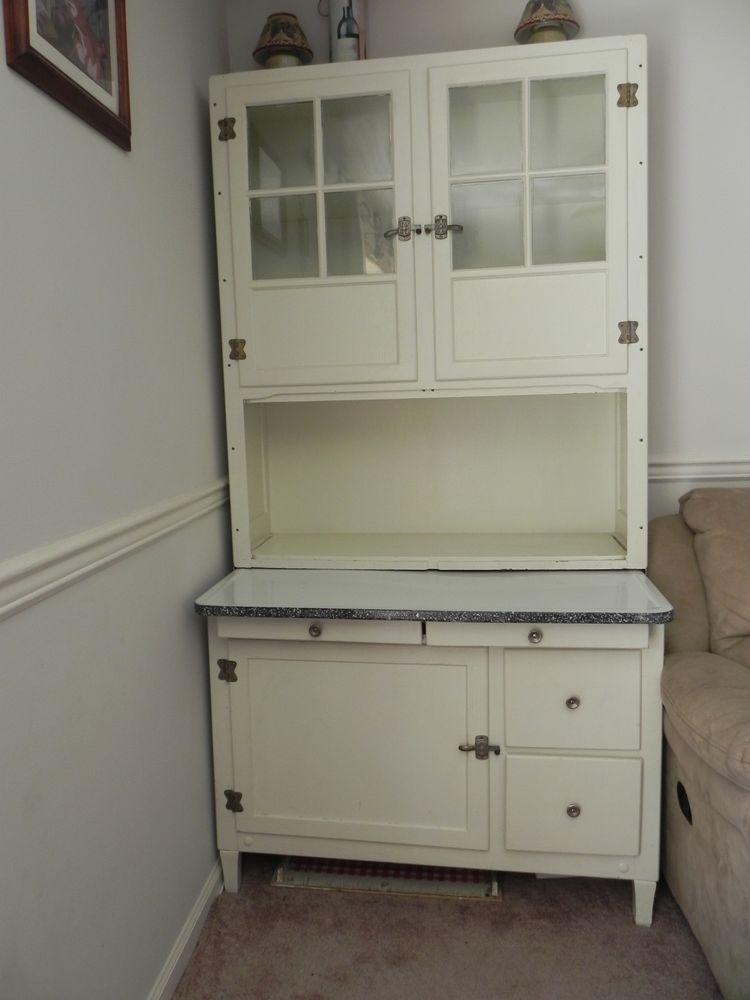 VHTF Antique HOOSIER Baking Cabinet Cupboard w/ Original Hardware Access  P/U NJ - - Antique Baking Cabinet Antique Furniture