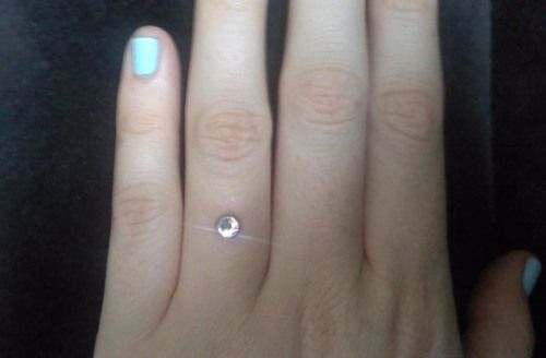 instead is saying the yes of piercing way ring wedding engagement wearing modern rings buzz