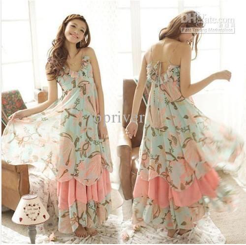 Wholesale New Sexy Lady Womens Camisole Deep V Neck Beach Bohemian Boho Maxi Long Dress Sundress 5 Sizes, Free shipping, $23.53-26.66/Piece | DHgate