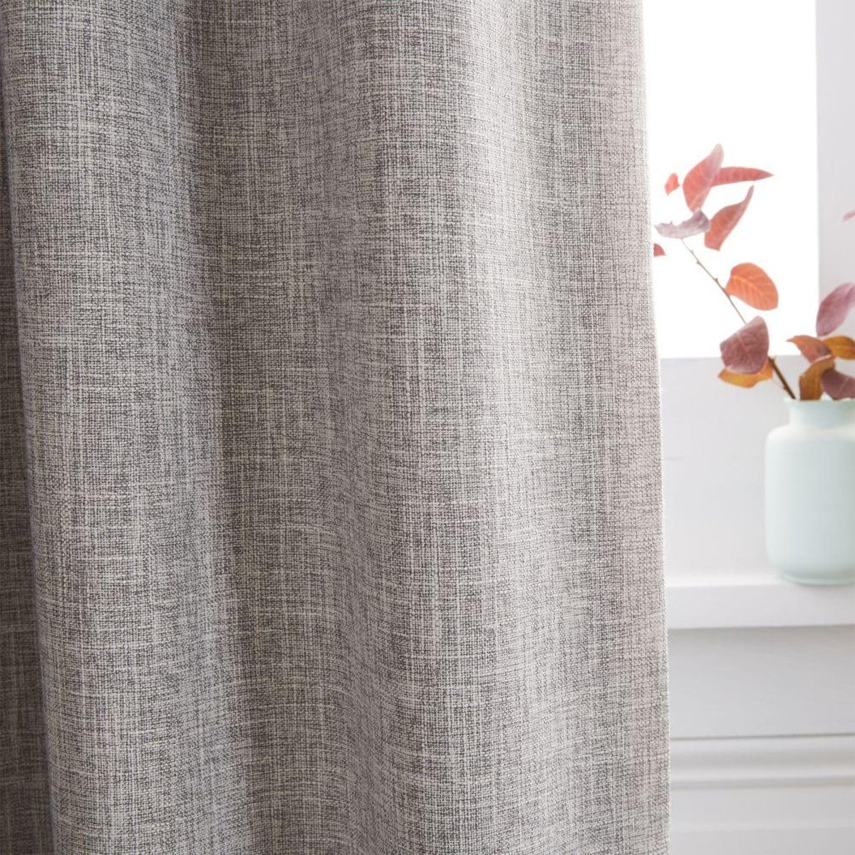 Crossweave Curtain Blackout Lining Stone White Curtains
