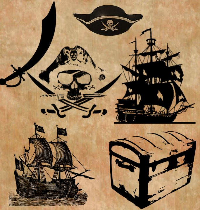 Внучке, картинки в пиратском стиле