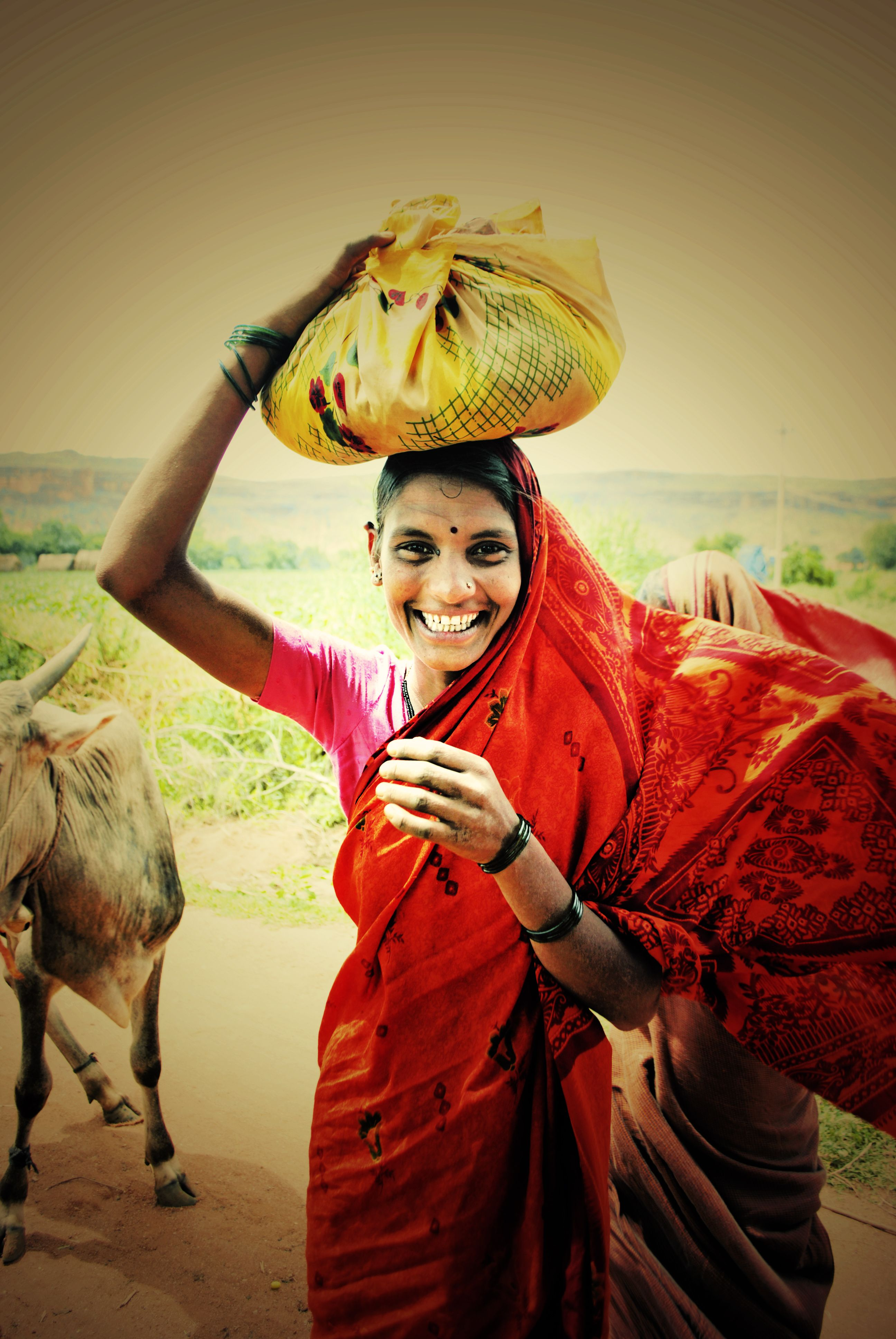 Village Girl, Karnataka India  India Calling  Village -3185