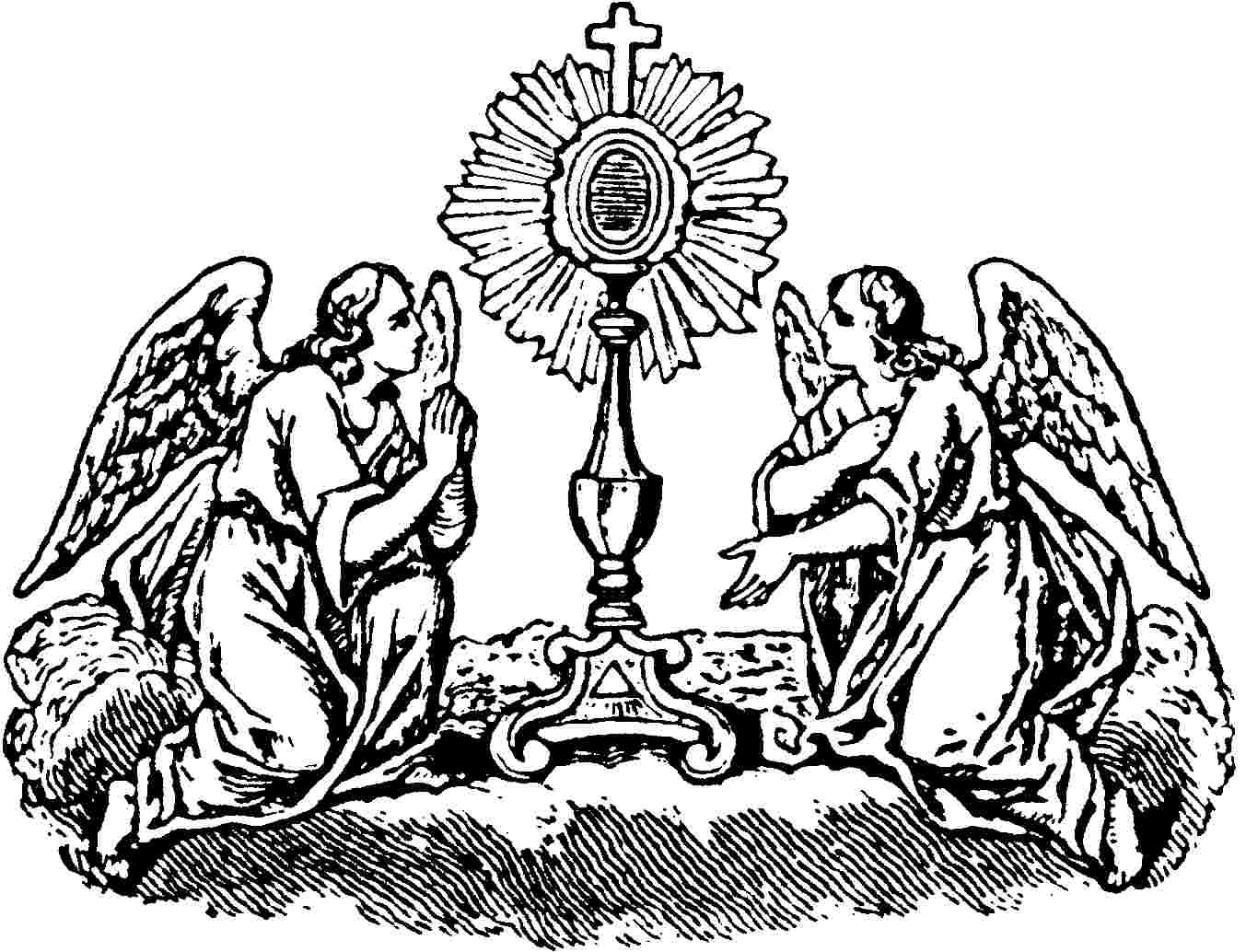 Angels With Monstrance Coloring Page Con Imagenes Arte
