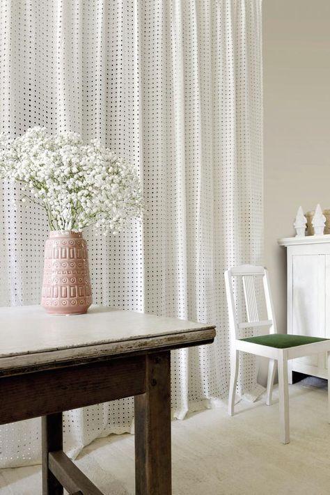 Stoff für Gardinen Die 8 schönsten Modelle fürs Fenster Pinterest