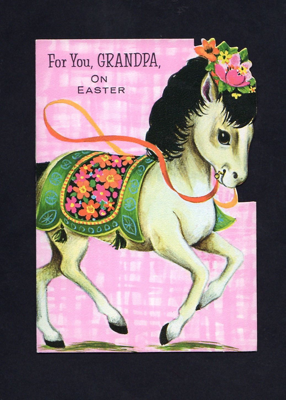 Little pony easter card unused cn 64 vintage easter