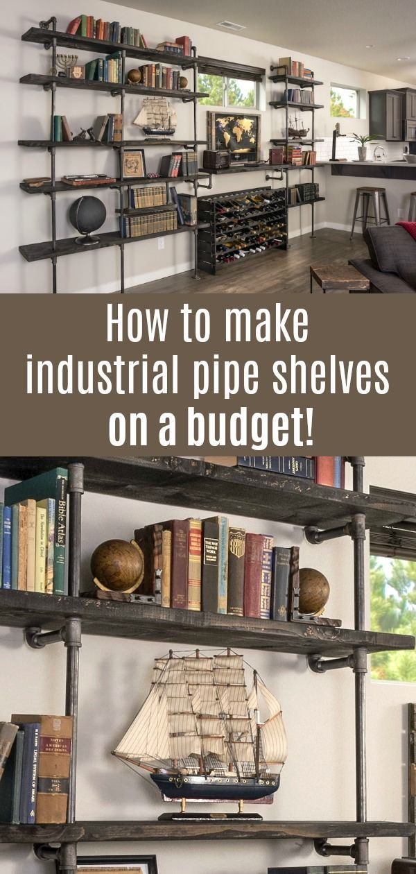 DIY Industrial Pipe Shelving On a Reasonable Budget - DIY Candy