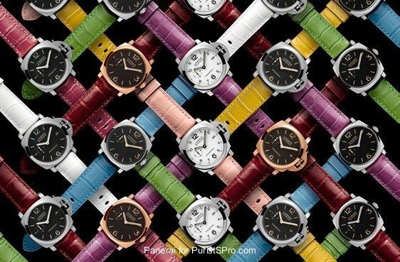 Officine Panerai - Panerai is introducing 11 new colored alligator straps for you strap addicts!