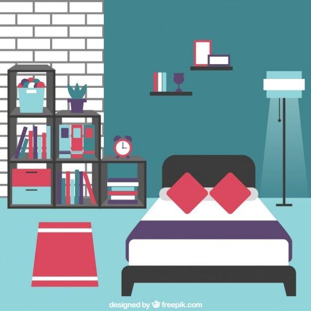 Bedroom furniture Free Vector