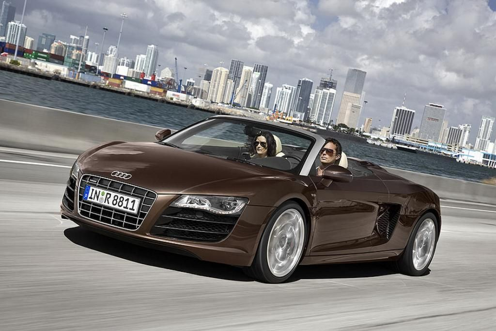 The Ten Best Audis Ever Made 3. R8 Spyder 5.2 FSI V10