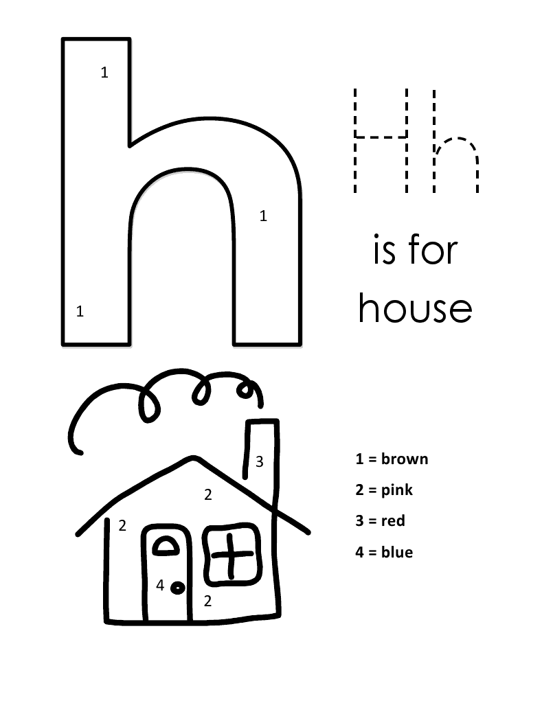 Lowercase Alphabet Color By Number | Alphabet coloring ...