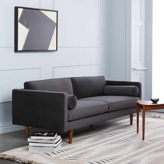 Groovy Monroe Mid Century Modern Sofa Deco Weave Feather Gray Ocoug Best Dining Table And Chair Ideas Images Ocougorg