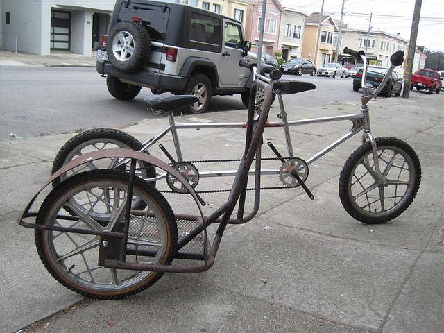 Vintage Gary Littlejohn sidehack married to a custom BMX
