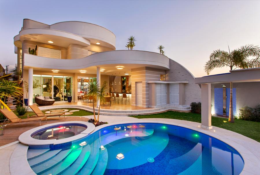 Casa dos sonhos lar pinterest casa sobrado fachadas for Casa moderna 4 ambientes