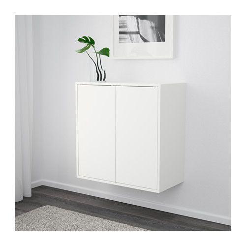 Eket Skap Med 2 Dorrar Och 1 Hylla Vit Ikea Ikea Eket Eket Ikea Wall Shelves