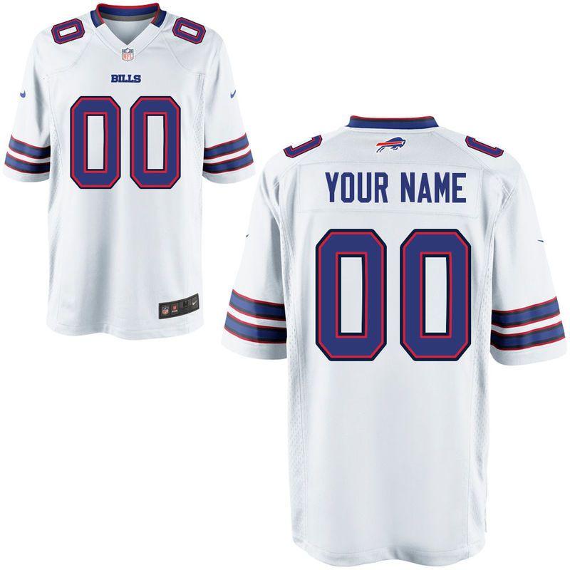 Nike Men s Buffalo Bills Customized Game White Jersey  471be5268