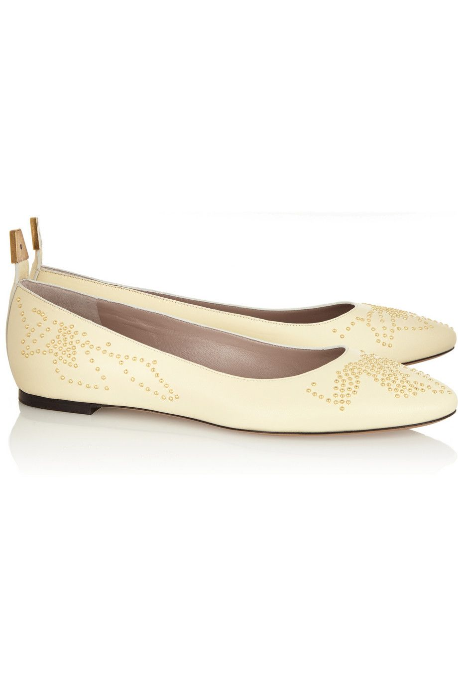 Chloé Studded Leather Ballet Flats Wa0kYtB39
