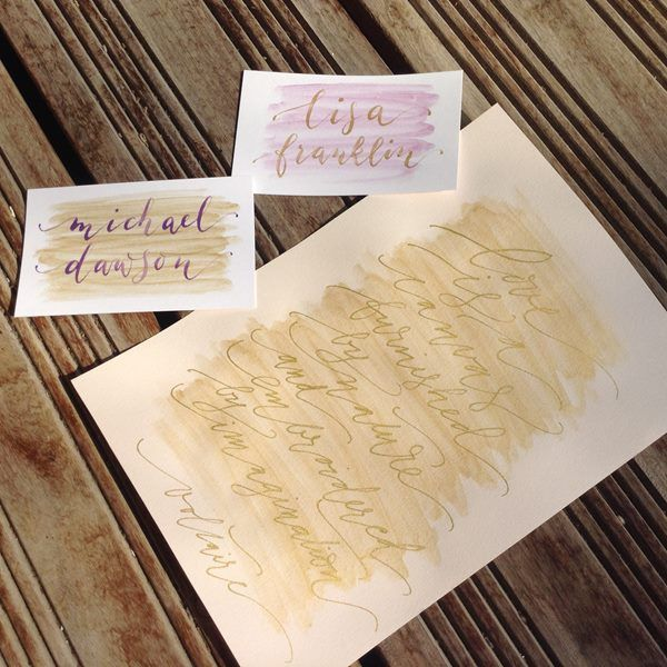 Watercolour wedding stationery by Nice Plume