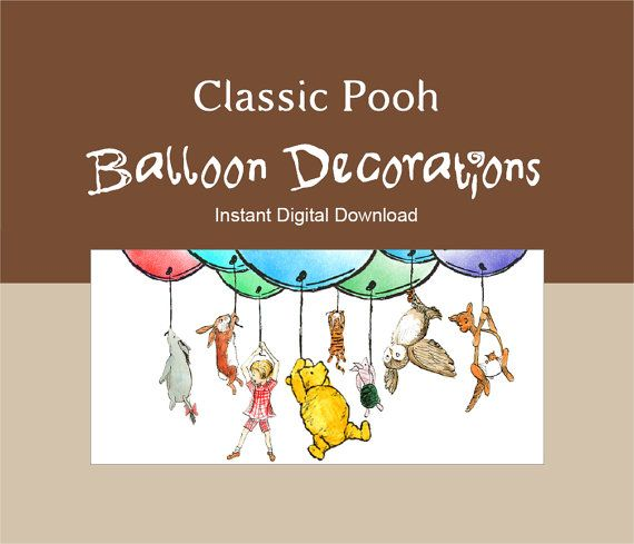 Classic Winnie the Pooh Balloon Decoration by LaArtistaSamantha, $10.00