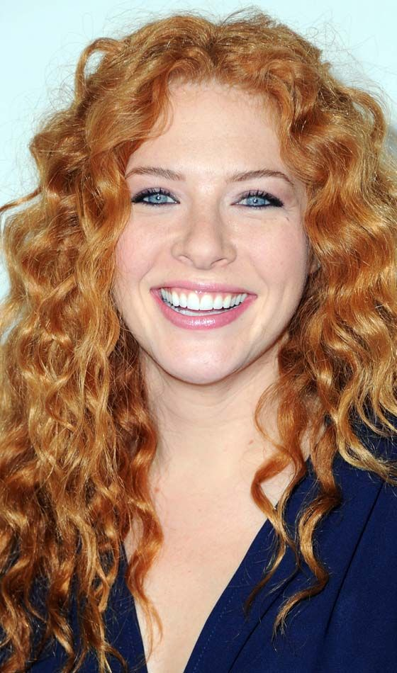 Top 10 Curly Celebrity Hairstyles To Inspire You Rachelle Lefevre Tan Redhead Red Hair Woman