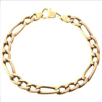 twotone v mens short gold s bracelet two hollow p men tone link