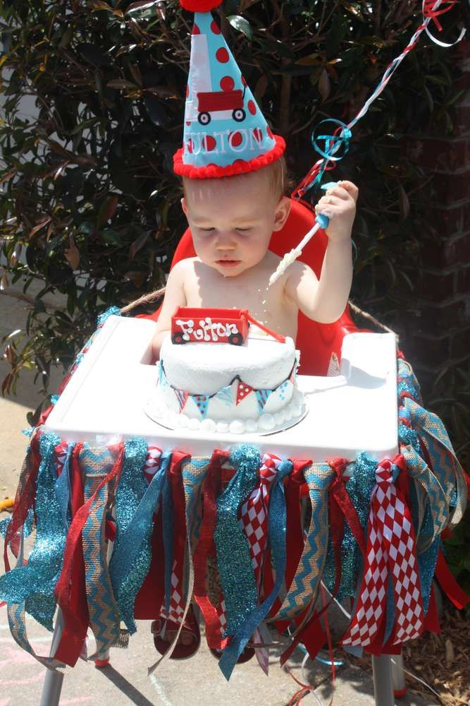 Little Red Wagon Birthday Party Ideas Photo 4 Of 18 Catch My
