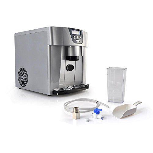 Nutrichef Picem75 Countertop Ice Maker Dispenser Silver Water Dispenser Ice Countertops