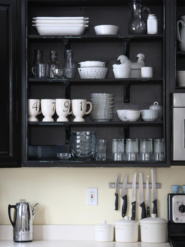 Classic Black-and-White Rooms From HGTV Fans | Black kitchens, White ...