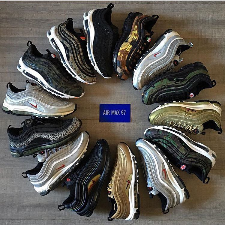 Heat! This @nike Air Max 97 circle is crazy! Which colorway