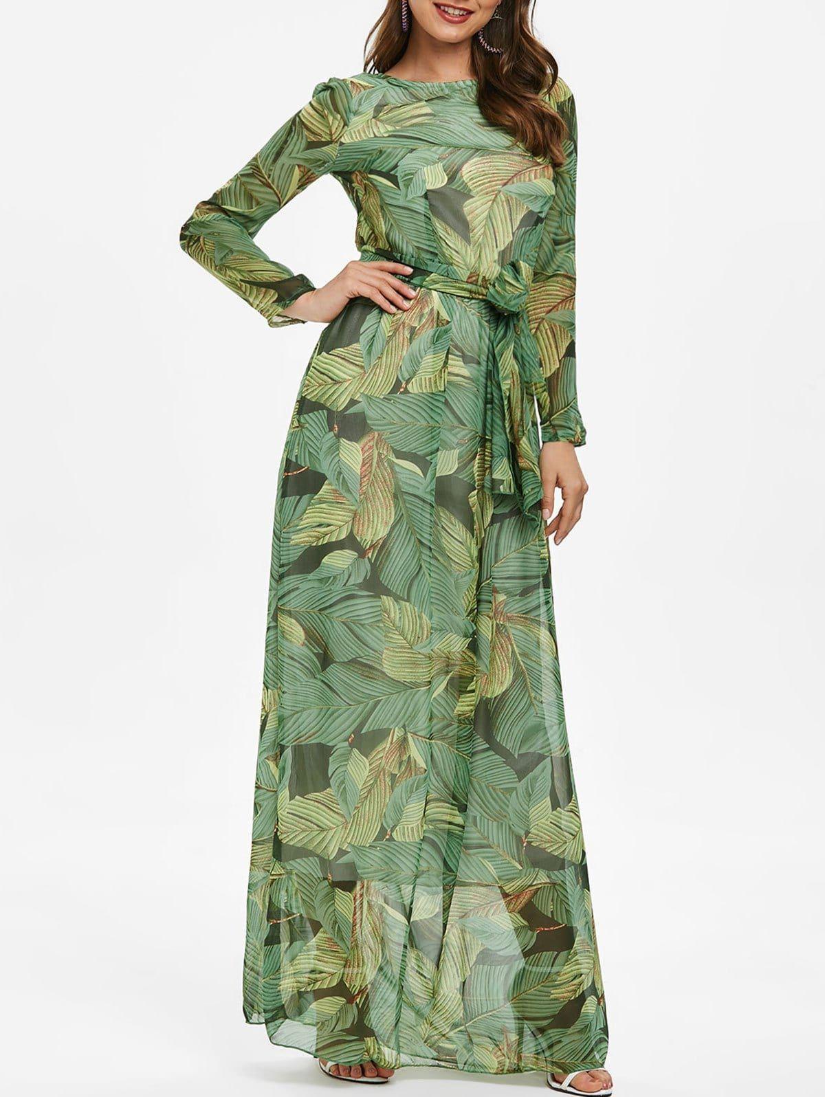 3d73d1b47512 Tropical Print Bohemian Maxi Dress Use code:RGIWD with 25% discount 3.8  Rosegal Women s