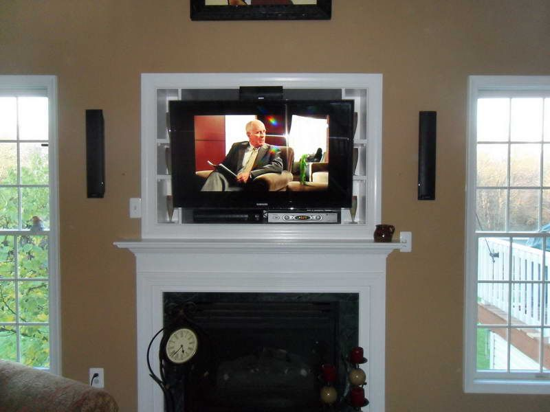 Placing Mounting Tv Above Fireplace In The Living Room Has Become Por Recent Years Due To Flatter Screen Reaching Market