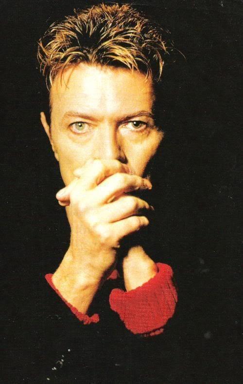David Bowie, 8th November 1995. Photo by Kevin Cummins.