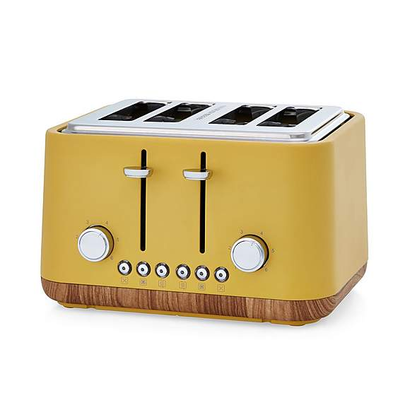 Contemporary 4 Slice Ochre Yellow Toaster Dunelm In 2020 Yellow Toaster Toaster Sliced